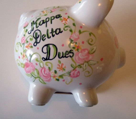 Photo Of Sorority Dues Piggy Bank
