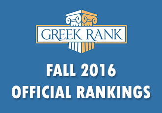 Fall 2016 Greekrank Official Ratings