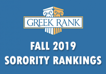 Fall 2019 Greekrank Sorority Rankings