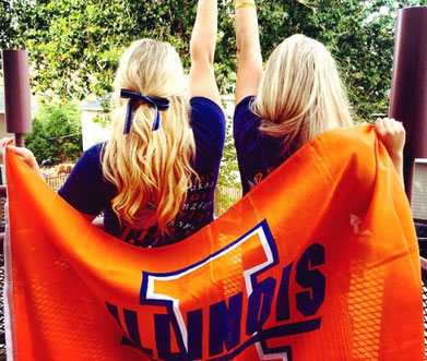 University of Illinois - Alpha Phi Cheerleaders