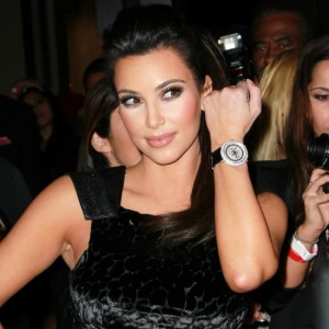 Pictures of Kim Kardashian with watch