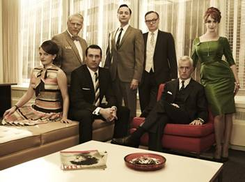 Picture of the cast of the Mad Men TV show